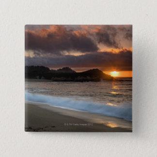 Sunset at Monastery Beach, Carmel, California, Pinback Button