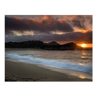 Sunset at Monastery Beach, Carmel, California, Postcard