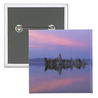 Sunset at Mono Lake, CA. 2 Inch Square Button