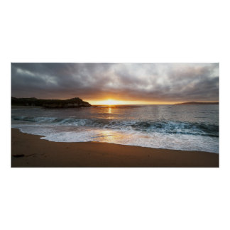 Sunset at Monterey, California's Pacific Coast Poster