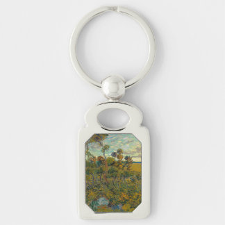 Sunset at Montmajour by Vincent Van Gogh Key Chains