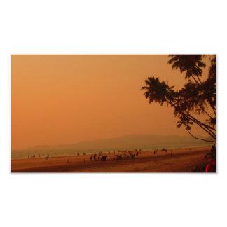 Sunset at murud photo print