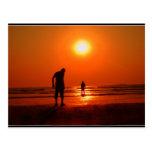 Sunset at murud post card