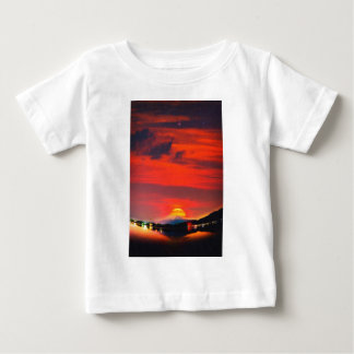 sunset at mystical mount fuji japan  crayons baby T-Shirt