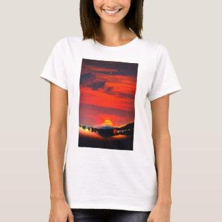 sunset at mystical mount fuji japan  crayons T-Shirt