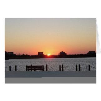 Sunset at Nags Head Card