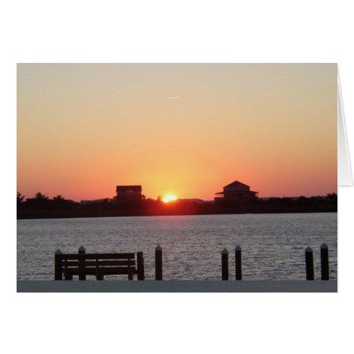 Sunset at Nags Head Greeting Card