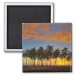 Sunset at National Historic Park Pu'uhonua o 2 Inch Square Magnet