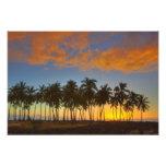 Sunset at National Historic Park Pu'uhonua o Photo Print