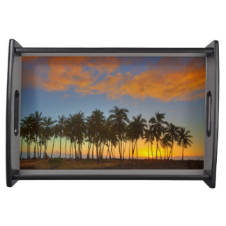 Sunset at National Historic Park Pu'uhonua o Serving Platters
