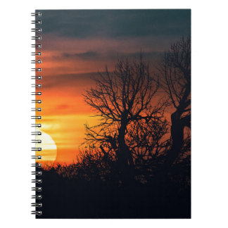 Sunset at Nature Landscape Scene Spiral Notebook