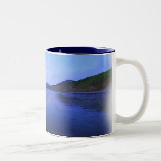 Sunset at Nefyn Two-Tone Coffee Mug