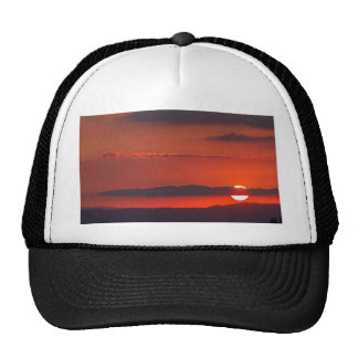 sunset at night trucker hat