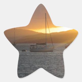 Sunset at Norman Island BVI's Star Sticker