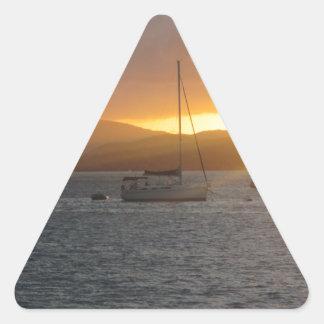 Sunset at Norman Island BVI's Triangle Sticker