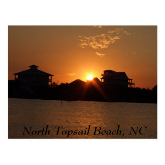 Sunset at North Topsail,  North Topsail Beach, NC Postcard