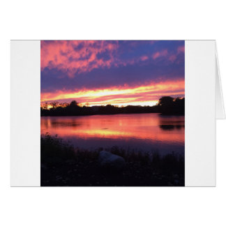 Sunset at Notre Dame Card