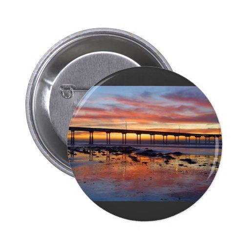Sunset At Ocean Beach 2 Inch Round Button