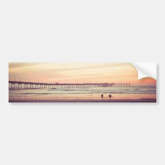 Sunset at Ocean Beach, California Bumper Sticker