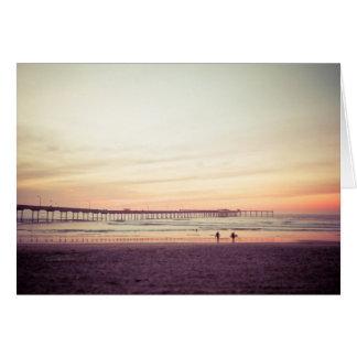 Sunset at Ocean Beach, California Card