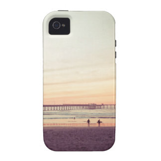 Sunset at Ocean Beach California Vibe iPhone 4 Cases
