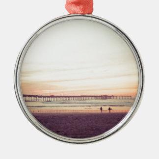 Sunset at Ocean Beach, California Metal Ornament