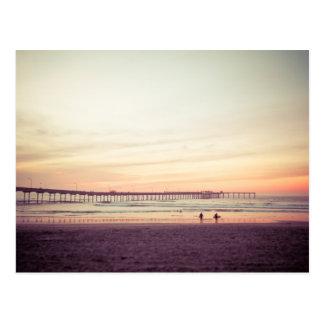 Sunset at Ocean Beach, California Postcard