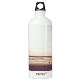 Sunset at Ocean Beach, California Water Bottle
