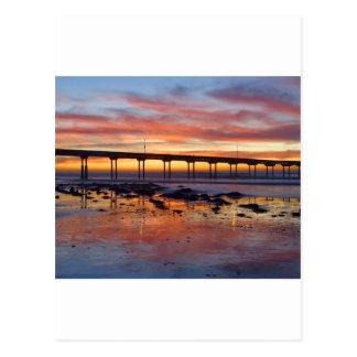 Sunset At Ocean Beach Post Cards