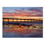 Sunset At Ocean Beach Postcard