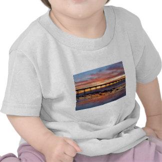 Sunset At Ocean Beach Tee Shirt