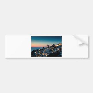 Sunset at Oia Bumper Sticker