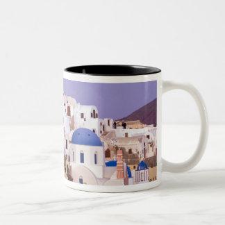 Sunset at Oil, Santorini 2 Two-Tone Coffee Mug
