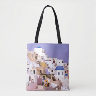 Sunset at Oil, Santorini 2 Tote Bag