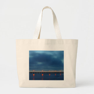Sunset At Pacific Beach Jumbo Tote Bag