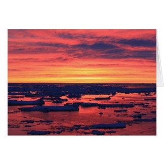 Sunset at Palmer Station Card