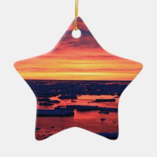 Sunset at Palmer Station Ceramic Ornament