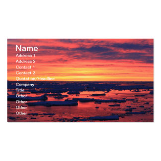 Sunset at Palmer Station Double-Sided Standard Business Cards (Pack Of 100)