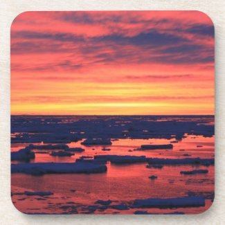 Sunset at Palmer Station Drink Coasters