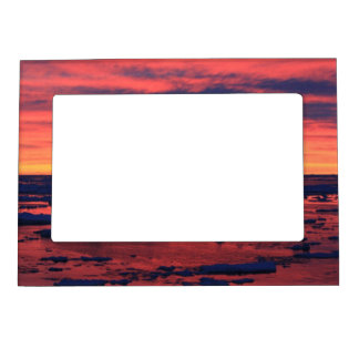 Sunset at Palmer Station Magnetic Picture Frame