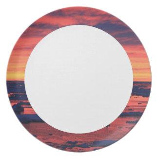 Sunset at Palmer Station Melamine Plate