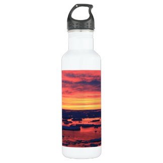 Sunset at Palmer Station Stainless Steel Water Bottle