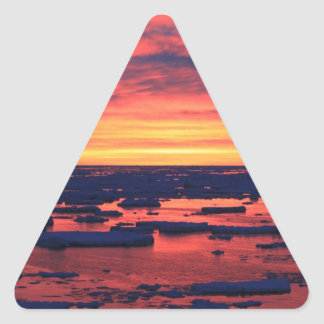 Sunset at Palmer Station Triangle Sticker