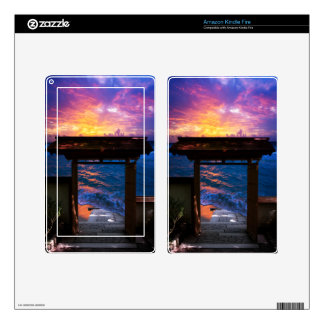 Sunset at Paradise Bay Kindle Fire Skin