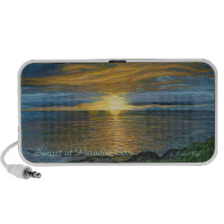 Sunset at Paradise Cove Doodle Notebook Speaker