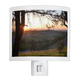 Sunset at Peachy Canyon Night Light
