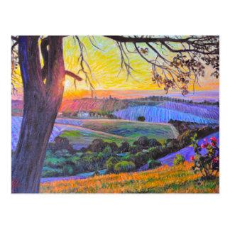 Sunset at Peachy Canyon Postcard