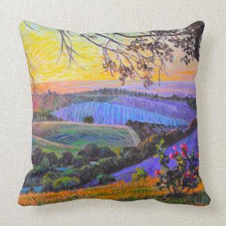 Sunset at Peachy Canyon Throw Pillow