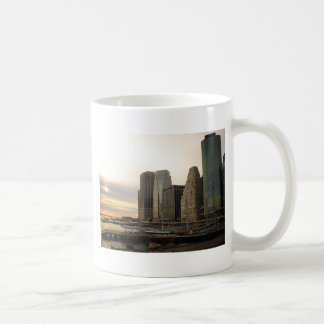 Sunset at Pier 17, South Street Seaport, New York Coffee Mug