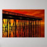 Sunset at Pier 487 poster Print